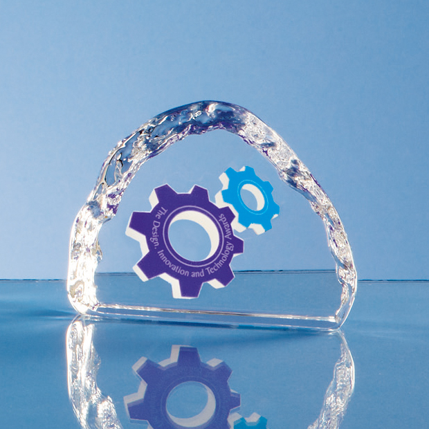 Optical Crystal Ice Block Paperweight - JG2