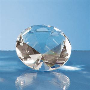 Optical Crystal Clear Diamond Paperweight