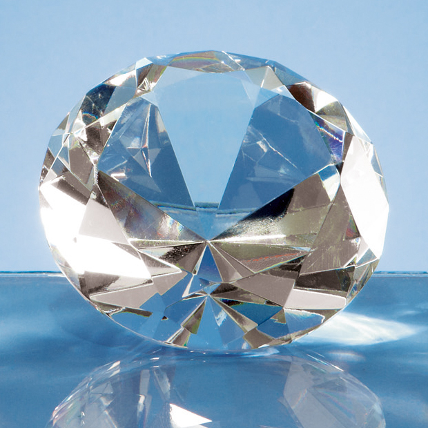 Optical Crystal Clear Diamond Paperweight - L319