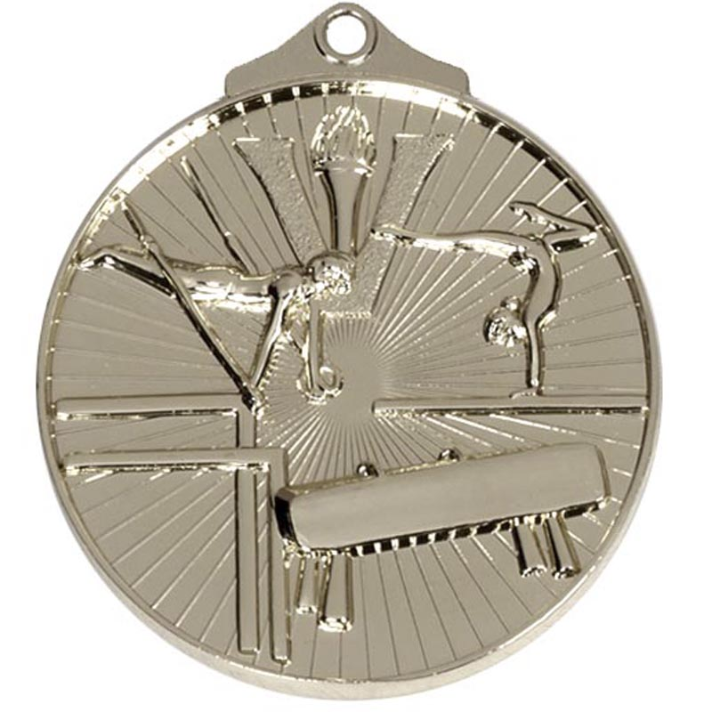 Silver Horizon Gymnastics Medal (size: 52mm) - AM210S