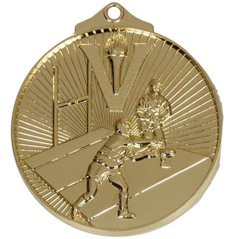 Gold Horizon Rugby Medal (size: 52mm) - AM209G
