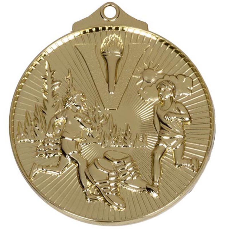 Gold Horizon Cross Country Medal (size: 52mm) - AM215G