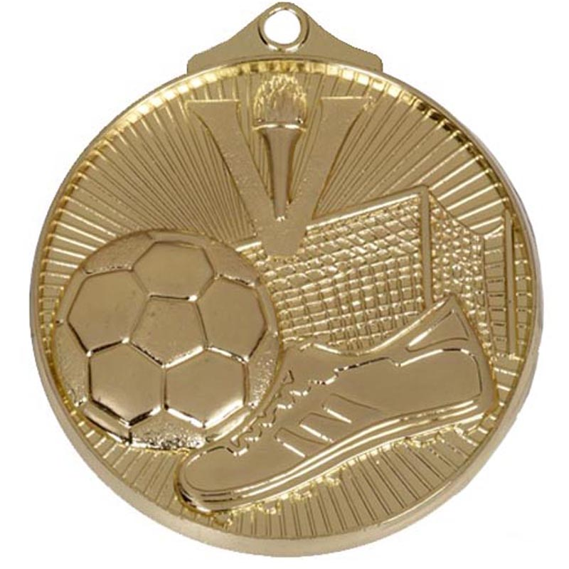 Gold Horizon Football Medal (size: 52mm) - AM203G