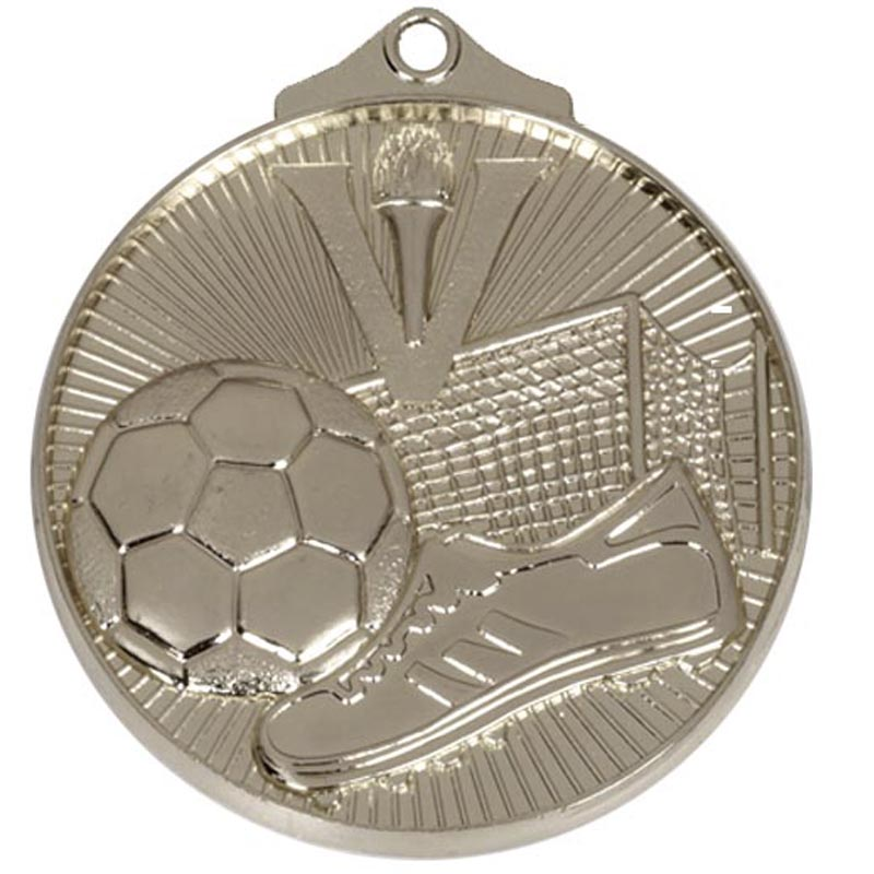 Silver Horizon Football Medal (size: 52mm) - AM203S