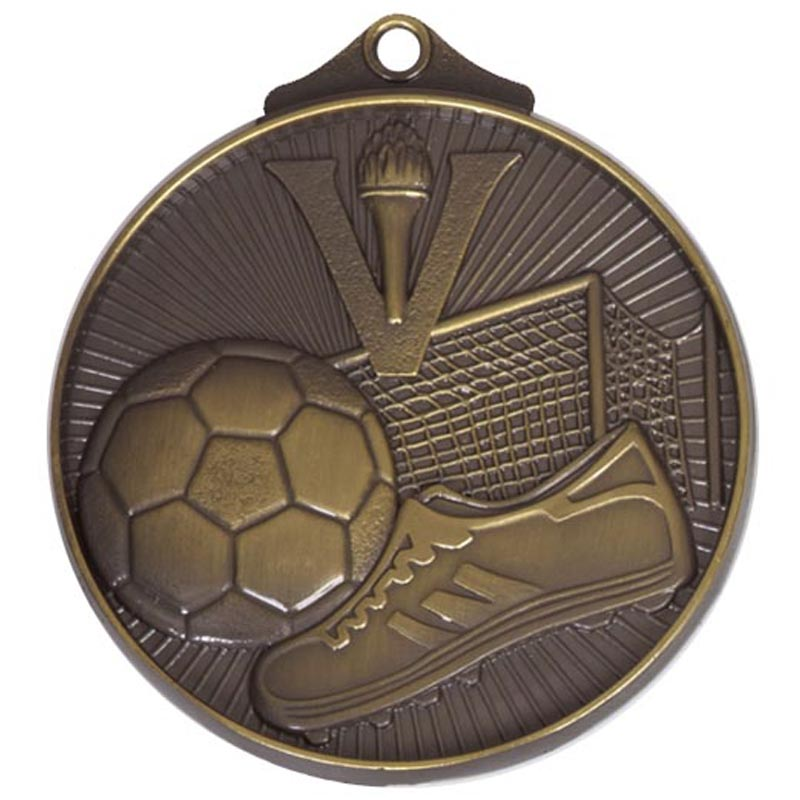 Bronze Horizon Football Medal (size: 52mm) - AM203B