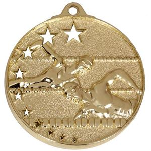 Gold San Francisco Swimming Medal (size: 52mm) - AM510G