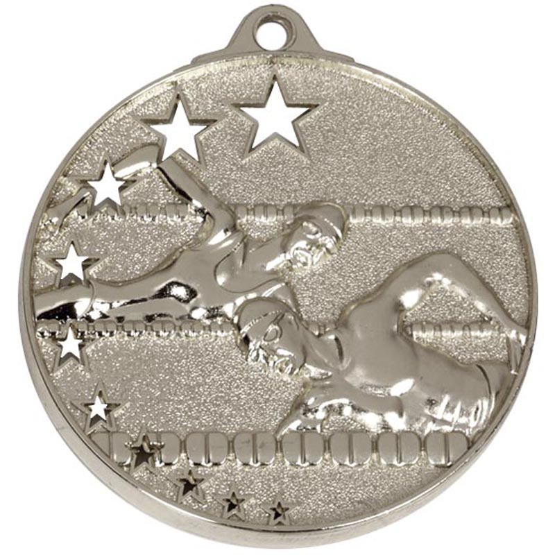 Silver San Francisco Swimming Medal (size: 52mm) - AM510S
