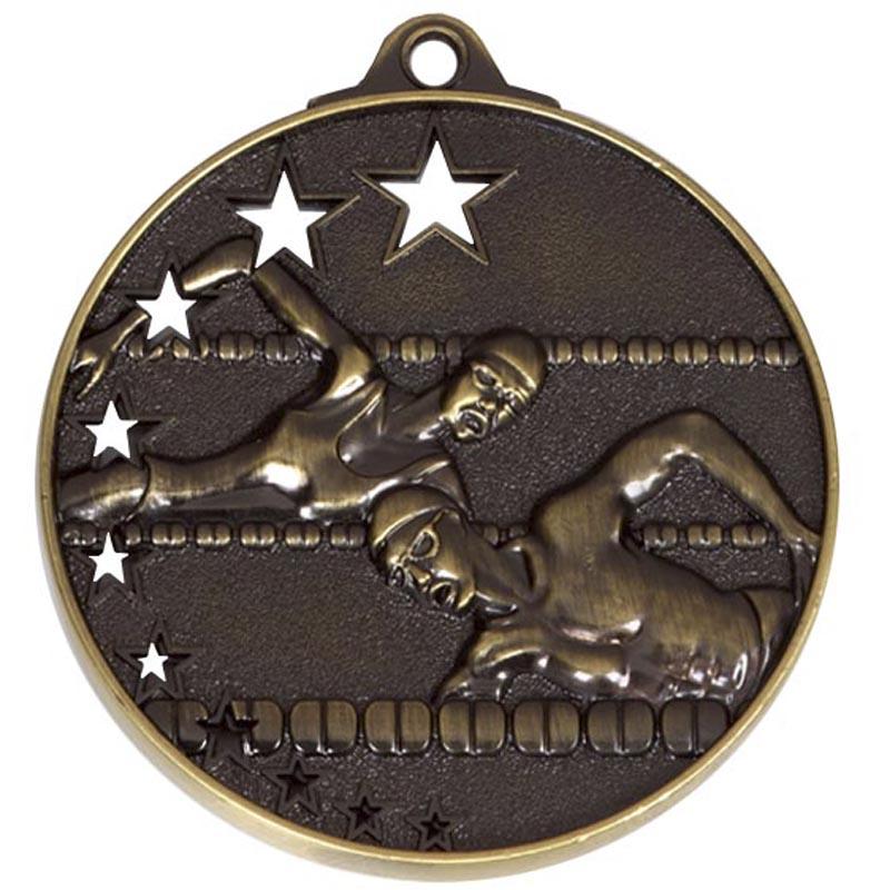Bronze San Francisco Swimming Medal (size: 52mm) - AM510B