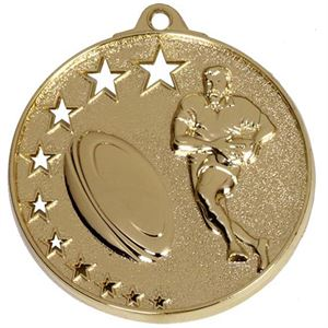 Gold San Francisco Rugby Medal (size: 52mm) - AM503G