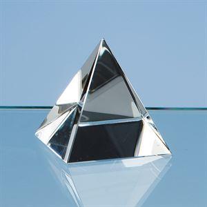 Optical Crystal 4 Sided Pyramid - SY1005