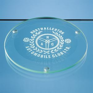 Jade Glass Round Coaster - GS18