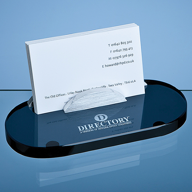 Smoked Glass Business Card Holder - TZ3813