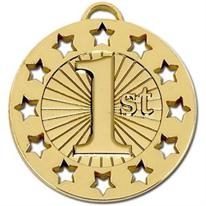 Gold Spectrum 1st Place Medal (size: 40mm) - AM865G