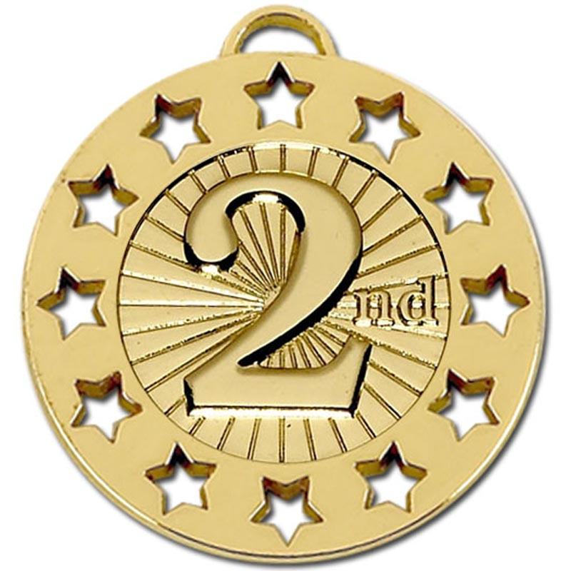 Gold Spectrum 2nd Place Medal (size: 40mm) - AM866G