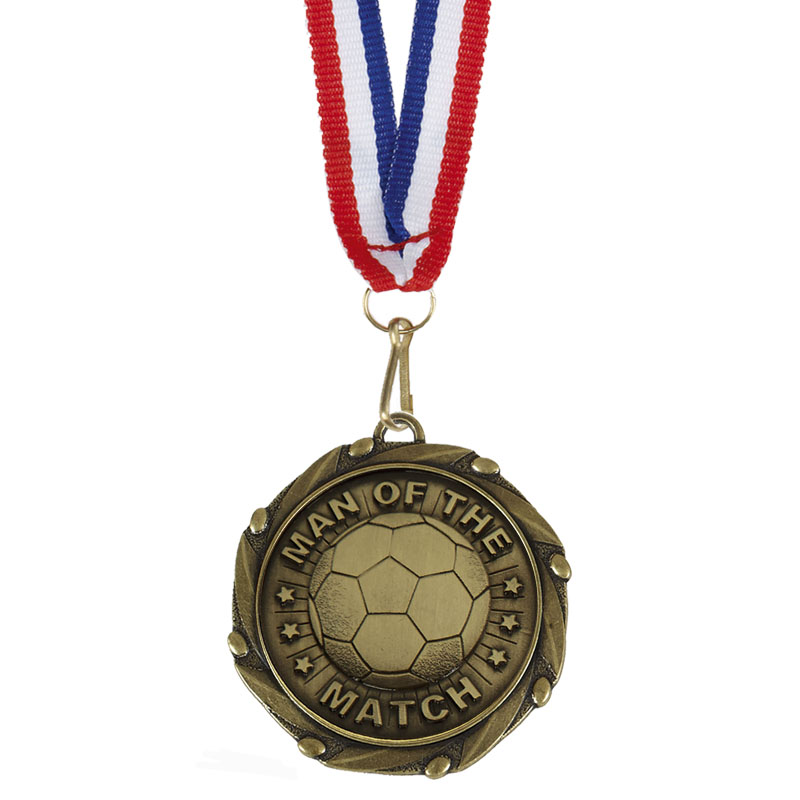Gold Combo Man of the Match Medal (size: 45mm) - AM1055.12
