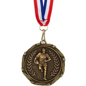Combo Rugby Player Medal & Ribbon