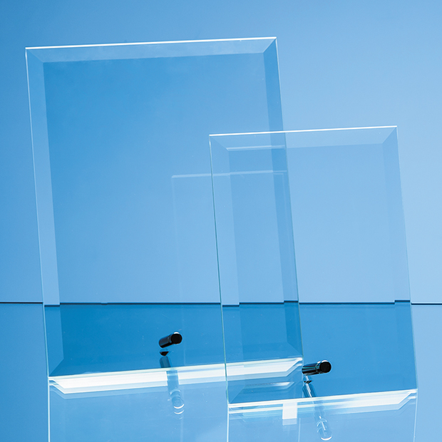 Jade Glass Bevelled Rectangle with Chrome Pin - DY52 & DY53