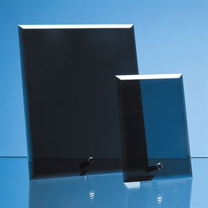 Smoked Black Glass Rectangle with Chrome Pin - PG228
