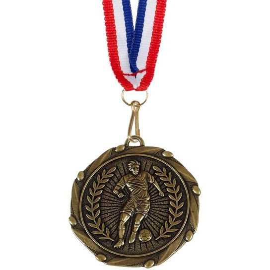 Gold Combo Footballer Medal (size: 45mm) - AM917G