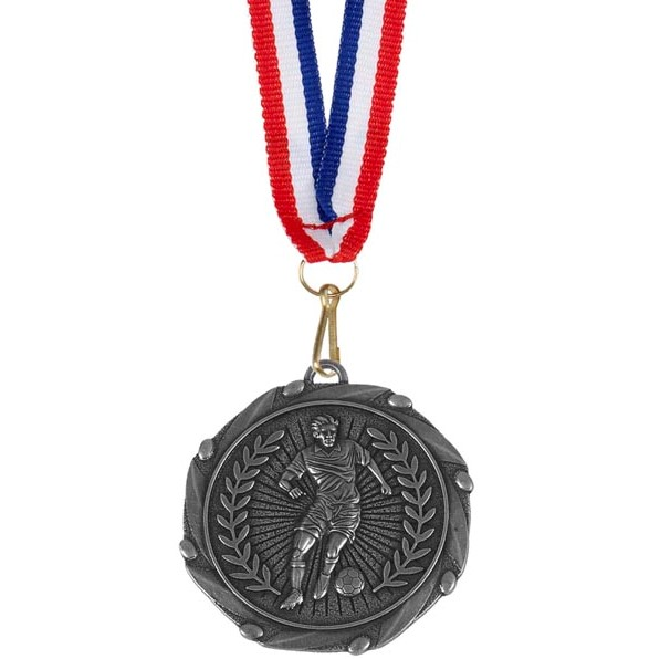 Silver Combo Footballer Medal (size: 45mm) - AM917S