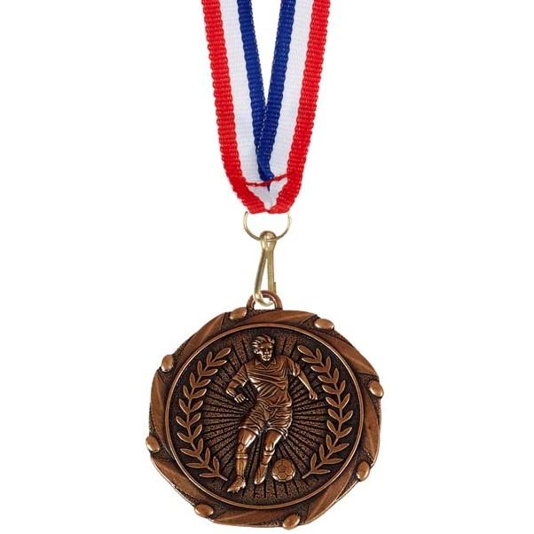 Bronze Combo Footballer Medal (size: 45mm) - AM917B