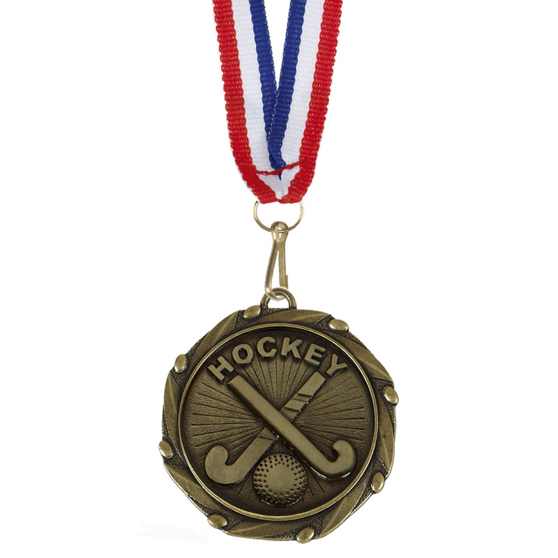 Gold Combo Hockey Medal (size: 45mm) - AM1065.12