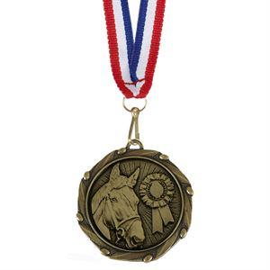 Combo Horse Medal & Ribbon