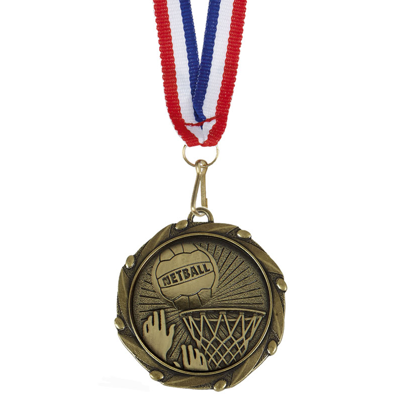 Gold Combo Netball Medal (size: 45mm) - AM1066.12