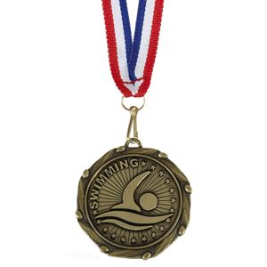 Gold Combo Swimming Medal (size: 45mm) - AM1062.12