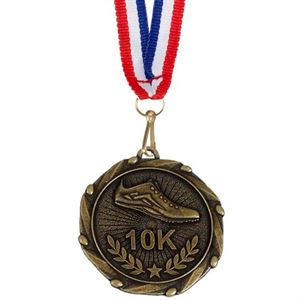 Gold Combo 10K Run Medal (size: 45mm) - AM915G