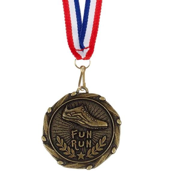 Gold Combo Fun Run Medal (size: 45mm) - AM913G