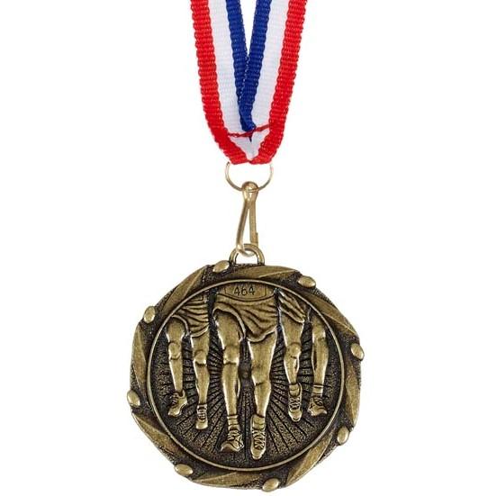 Gold Combo Runner Legs Medal (size: 45mm) - AM916G