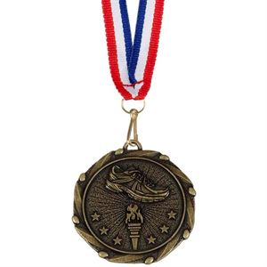 Combo Running Shoe Medal & Ribbon