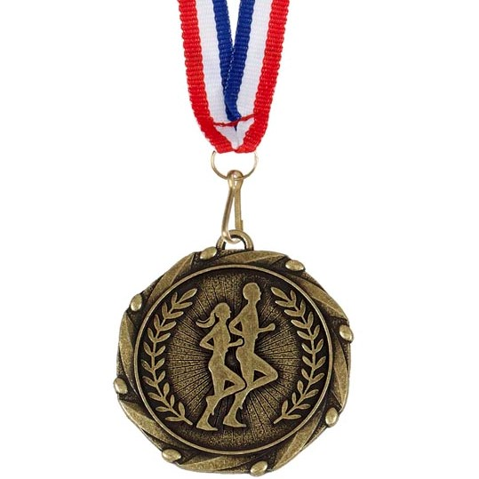 Gold Combo Runners Medal (size: 45mm) - AM905G