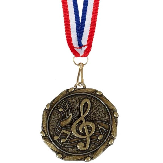 Gold Combo Music Medal (size: 45mm) - AM911G