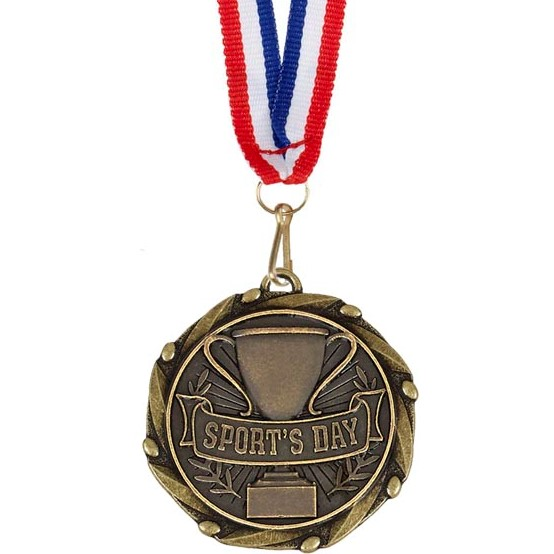 Gold Combo Sport's Day Medal (size: 45mm) - AM1016.12