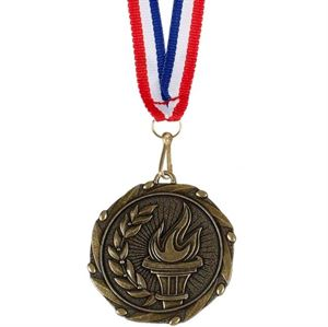 Gold Combo Victory Torch Medal (size: 45mm) - AM910G