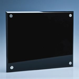 Onyx Black Wall Display Plaque inc Fixing Kit - SY3058