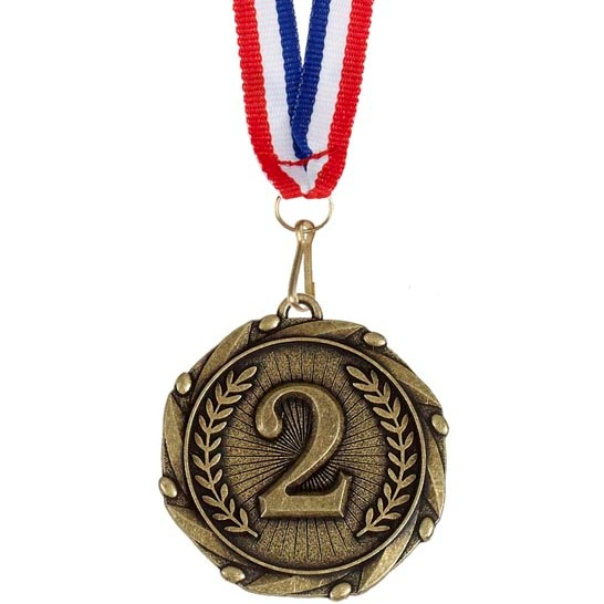 Gold Combo 2nd Place Medal (size: 45mm) - AM902G