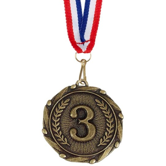 Gold Combo 3rd Place Medal (size: 45mm) - AM903G