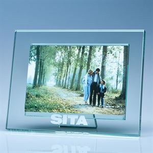 "Jade Glass Photo Frame for 6""x4"" Landscape Photo - SX2"