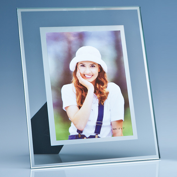 Jade Glass Frame with Mirror Inlay for Portrait Photo - SX3
