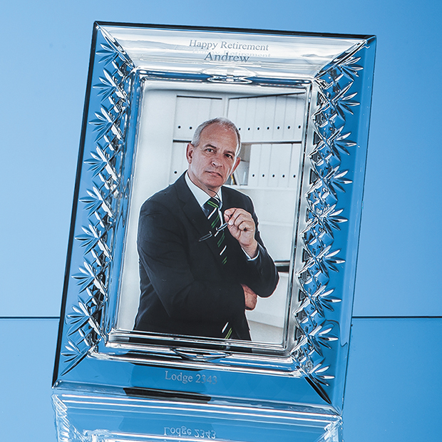 Lead Crystal Panelled Photo Frame for Portrait Photo - L484