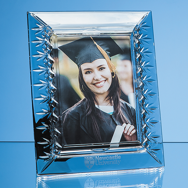 Lead Crystal Panelled Photo Frame for Portrait Photo - L483