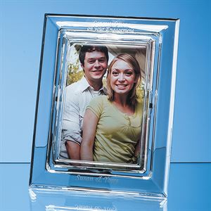 Lead Crystal Plain Photo Frame - L486