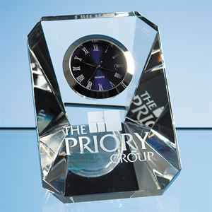 Optical Crystal Wedge Clock - R20