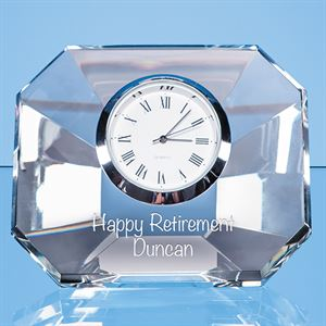 Optical Crystal Wedge Clock - EUR100