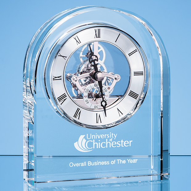 Optical Crystal Arched Clock - EUR106
