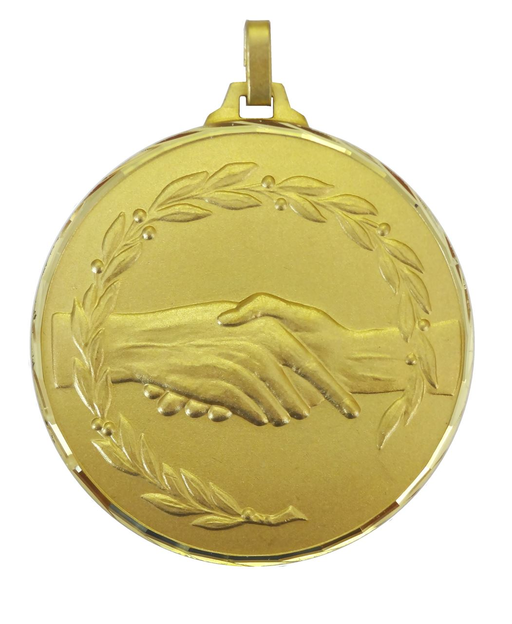 Gold Faceted Fair Play Medal (size: 52mm and 70mm) - 360F
