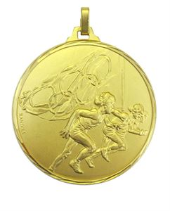 Faceted Olympic Flag Athletes Medal